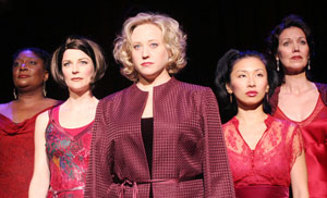 Mary Bond Davis, Lisa Brescia, Sally Wilfert, Stephanie Bast,and Lynne Wintersteller in The Mistress Cycle