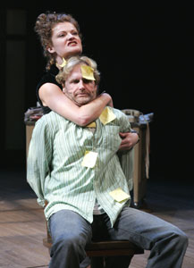 Rebecca Wisocky and Jere Burnsin The Scottish Play