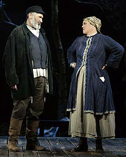 Harvey Fierstein and Rosie O'Donnell in Fiddler on the Roof