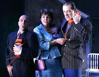Jeff Gruner, Heather Ayers, and John Bolton in Five Course Love