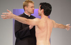 Colin Stuart and Scott Cox in Crucifixion