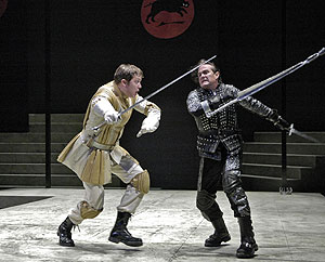 Danforth Comins and James Newcomb in Richard III