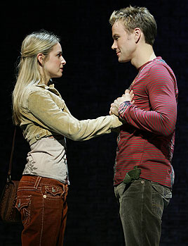 Jessica Boevers and Christopher J. Hankein In My Life (Photo © Joan Marcus)