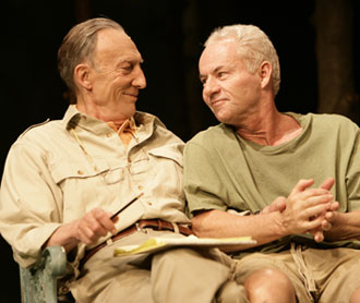 Tom Aldredge and James Sutorius in 2 Lives(Phot © T. Charles Erickson)
