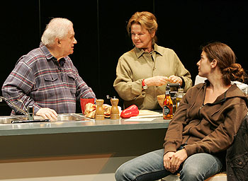Charles Durning, Dianne Wiest, and Gaby Hoffman in Third (Photo © Joan Marcus)