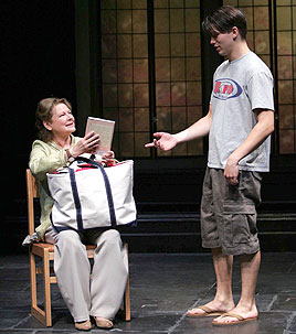 Dianne Wiest and Jason Ritter in Third(Photo © Joan Marcus)
