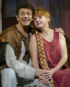 Adrian Zmed and Annie Goldenin The Ark