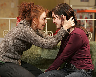 Deirdre O'Connell and Jessica Collinsin Manic Flight Reaction