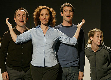 Adam Heller, Barbara Walsh, Nicholas Belton, and Erin Leigh Peck in Normal