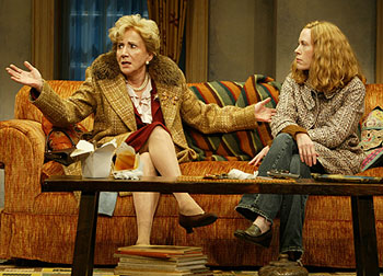 Olympia Dukakis and Veanne Cox in A Mother, A Daughter, and a Gun (Photo © Carol Rosegg)