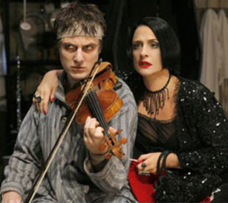 Manoel Felciano and Patti LuPone in Sweeney Todd