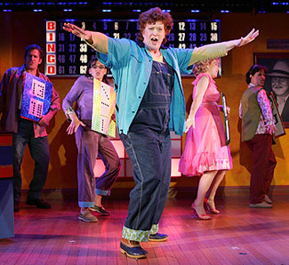 Liz McCartney and cast in Bingo
