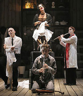 Michael Cerveris, Patti LuPone, Manoel Felciano, and Donna Lynne Champlin in Sweeney Todd
