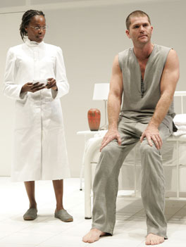 Charlayne Woodard and Dan Snook in Purgatorio