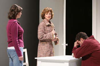 Brandy Burre, Ellen Karas, and Michael Earle in Hilda