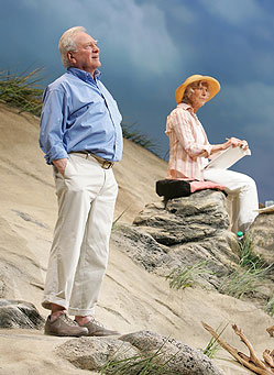 George Grizzard and Frances Sternhagen in Seascape