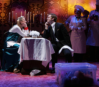 Mamie Gummer, Michael C. Hall, and company in Mr. Marmalade (Photo © Joan Marcus)