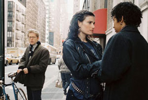 Anthony Rapp, Idina Menzel, and Tracie Thoms in Rent