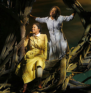 Renée Elise Goldsberry and LaChanze in The Color Purple