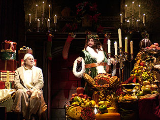 William Brown and Bradley Mott in the Goodman'sA Christmas Carol 