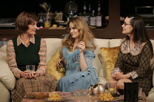 Lisa Emery, Jennifer Jason Leigh, and Elizabeth Jasicki  in Abigail's Party
