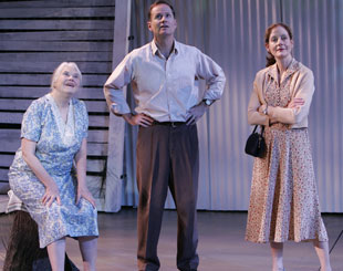 Lois Smith, Devon Abner, and Hallie Foote in The Trip to Bountiful