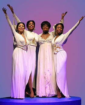 Alexis Sims, Chaunteé Schuler, Nova Y. Payton, and CJay Hardy Philip in Dreamgirls
