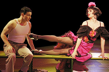 Matt Bogart and Meg Gillentine in Damn Yankees(Photo &copy; Scott Suchman)
