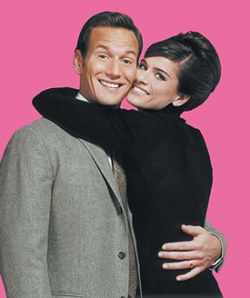 Patrick Wilson and Amanda Peet ina publicity shot for Barefoot in the Park(Photo © Josh Lehrer)