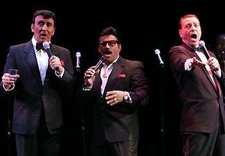 Russ Loniello, Louis Velez, and Gary Anthony in Frank, Dean & Sammy Live in Concert (Photo © Carol Rosegg)