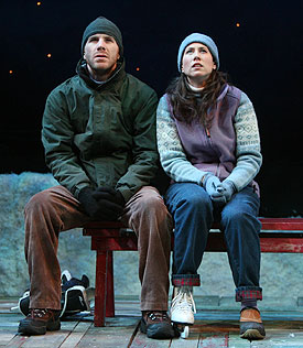 Justin Hagan and Miriam Shor in Almost, Maine