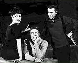 Chita Rivera, Dick Van Dyke, and Gower Championduring rehearsals for Bye, Bye Birdie