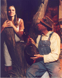 Liz Herron and Carl J. Johnsonin Ballad Hunter.