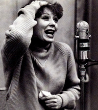 Gwen Verdon at a recording sessionfor Redhead in 1959