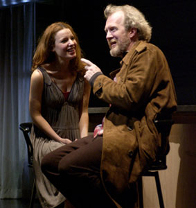 Kate Arrington and Tracy Letts in The Well-Appointed Room (Photo © Michael Brosilow)