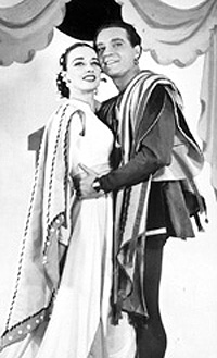 Patricia Morison and Alfred Drakein the original Broadwayproduction of Kiss Me, Kate