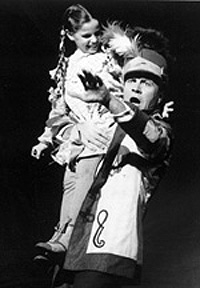 Robert Preston and unidentified childin the original Broadwayproduction of The Music Man