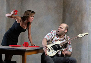 Heidi James and David Mogentale in Lenny & Lou