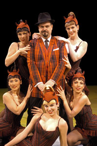Brad Oscar and company in Damn Yankees