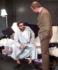Adeel Akhtar and Jason Guy in Back of the Throat