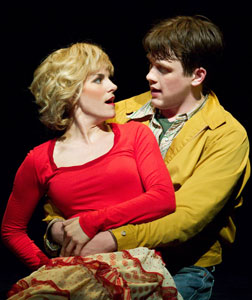 Jenn Colella and Michael Arden in  The Times They Are A-Changin'