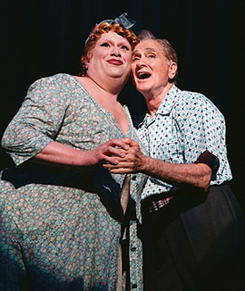 Harvey Fierstein and Dick Latessa in Hairspray(Photo © Paul Kolnik)