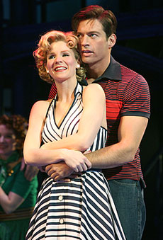 Kelli O'Hara and Harry Connick, Jr.  in The Pajama Game