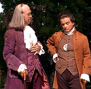 Howard Da Silva and William Danielsin the film version of 1776
