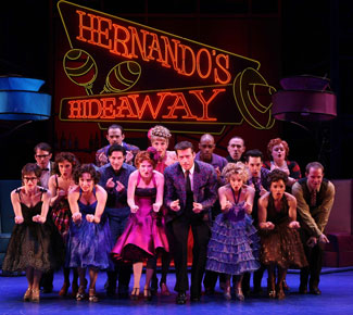 The cast of The Pajama Game (Photo © Joan Marcus)