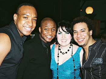 Natalie and The Bubblies (left to right):J. Edward Lucas, Kevin Smith Kirkwood, and Michael Hammerstrom(Photo © Linda Lenzi, BroadwayWorld.com)