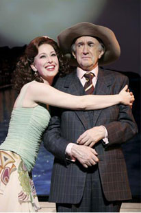 Mylinda Hull and Jonathan Pryce in Dirty Rotten Scoundrels