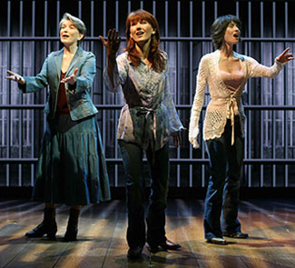 Cass Morgan, Lari White, and Beth Malone in Ring of Fire(Photo © Joan Marcus)