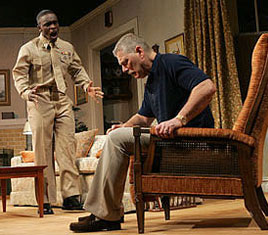 Chris Chalk and Stephen Lang in Defiance