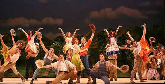 "The cast of the New York City Opera production of The Most Happy Fella in ""Big D"" 